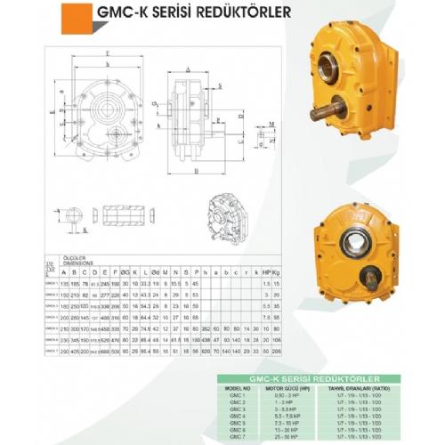 GMC-K SERİSİ ARMUT TİP ŞAFT MİLLİ REDÜKTÖRLER
